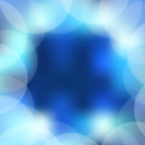 Blue background. With blurred circles Royalty Free Stock Images