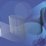 Blue background. Abstract blue background with strips and circles Stock Image