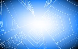 Blue background. Blue poster in the style of elementary geometry Royalty Free Stock Photo