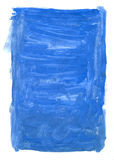 Blue background. Painted blue background on white paper Stock Photo