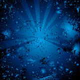 Blue background. Vector grunge blue background with drops Vector Illustration