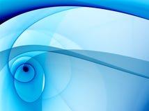 Blue background. 3d render ftactal vector illustration