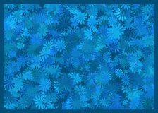 Blue background. An illustration for backgrounds completely covered of blue flowers Stock Photo