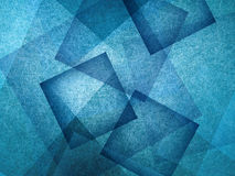 Blue background with absract blue squares in random patter, geometric background Stock Photos
