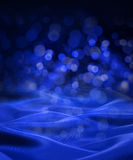 Blue Black Satin Christmas Abstract Background