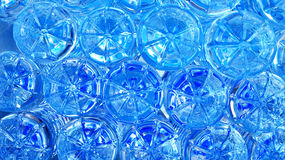 Blue background. Blue abstract  background of bottle plastic Royalty Free Stock Photography