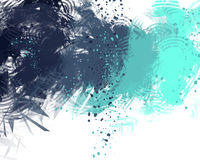 Blue background, abstract. Digital painting Royalty Free Stock Image