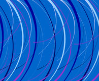 Blue background with abstract lines. Royalty Free Stock Photography