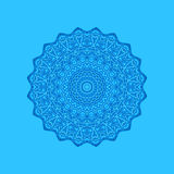 Blue background with abstract round pattern Royalty Free Stock Photography