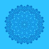 Blue background with abstract shape. Shape with abstract pattern on blue background Royalty Free Stock Images