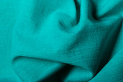 Blue background abstract wavy folds cloth Stock Photography