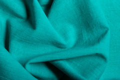 Blue background abstract wavy folds cloth Stock Images