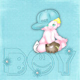 Blue background with the baby-boy. Children's blue background in peas with the signature and with the baby-boy Royalty Free Stock Photo