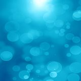 Blue background. Beautiful blue background with some blurred lights on it royalty free illustration