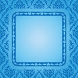 Blue background with blue frame - vector Stock Photos