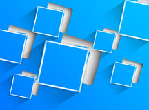 Blue background with blue squares Stock Photography