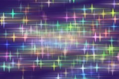 Blue background with blurred stars Stock Images