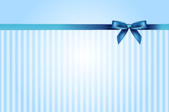 Blue background with bow Royalty Free Stock Images