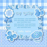 Blue background for boy Royalty Free Stock Photos