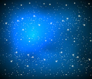 Blue background with bright stars. Vector art illustration Stock Photo