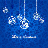 Blue background for Christmas. Blue background for new year and for Christmas Royalty Free Stock Photos