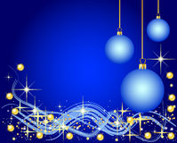 Blue Background with Christmas Balls. Illustration of a blue Background with Christmas Balls Stock Images