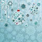 Blue background with christmas balls. EPS 8 Royalty Free Stock Image