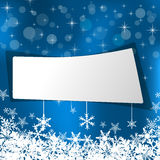Blue background for Christmas Stock Photos