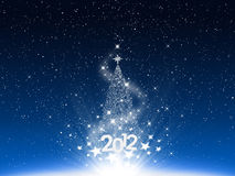 Blue background Christmas and snow and star. 2012 new year Royalty Free Stock Images