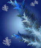 Blue background in Christmas style made with fractal design. On gradient. Computer generated graphics Royalty Free Stock Image