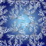 Blue background in Christmas style made with fractal design. On gradient. Computer generated graphics Stock Image