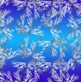 Blue background in Christmas style made with fractal design Stock Image