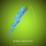 Blue Background with Christmas tree Royalty Free Stock Image