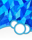 Blue background with circles in grunge style. Stock Photos