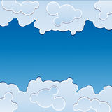 blue background with clouds Stock Image
