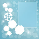Blue background with cogwheel Royalty Free Stock Photography