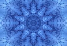Abstract concentric Ice pattern. Blue background with concentric abstract ice pattern Royalty Free Stock Image