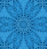 Abstract concentric ice pattern. Blue background with concentric abstract ice pattern stock illustration