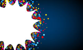 Blue background with confetti. Royalty Free Stock Photos
