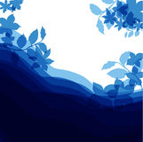 Blue background for congratulation with flowers, happy birthday Stock Images