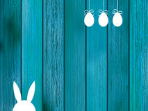 Blue background with copy space on wood.  + EPS8 Royalty Free Stock Photos