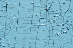 Blue background on cracked surface Stock Images