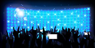 Blue of background crowd of party people Royalty Free Stock Photo