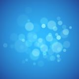 Blue background with defocused lights Stock Photo
