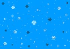 Blue background design showing snow fall. A unique blue background design showing snow fall/ snowflakes wallpaper pattern Royalty Free Stock Photos