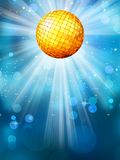 Blue background with disco ball. EPS 10 Stock Photos