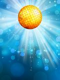 Blue background with disco ball. EPS 10. Vector file included Royalty Free Stock Image
