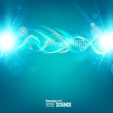 Blue background with DNA Royalty Free Stock Photo
