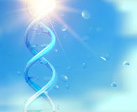 Blue background with DNA. Royalty Free Stock Photos