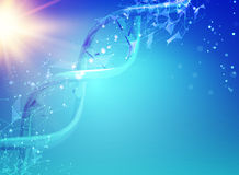 Blue background with DNA. Stock Image